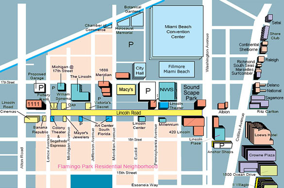 Map of Lincoln Road Mall